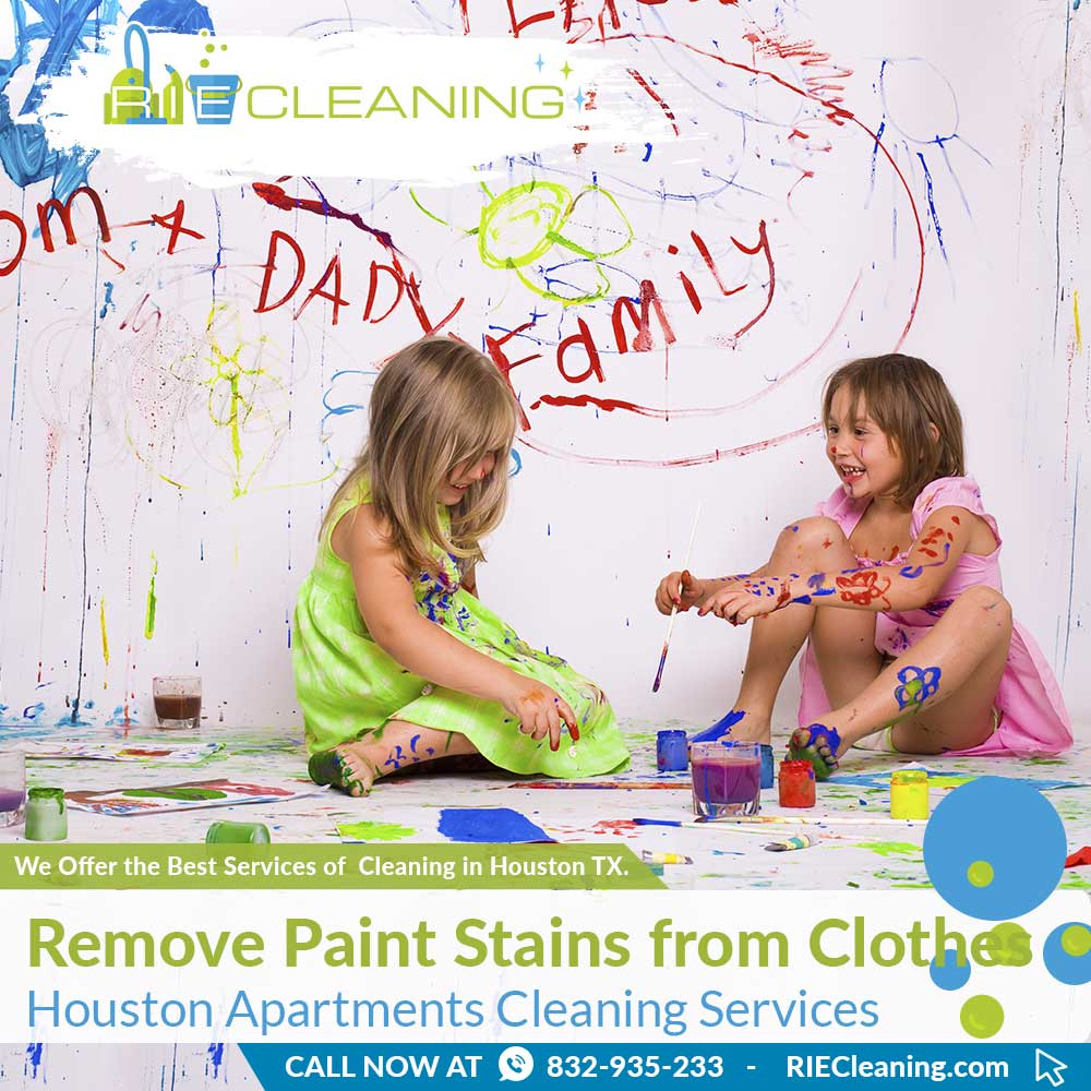RIE Cleaning - How to Remove Paint Stains from Clothes